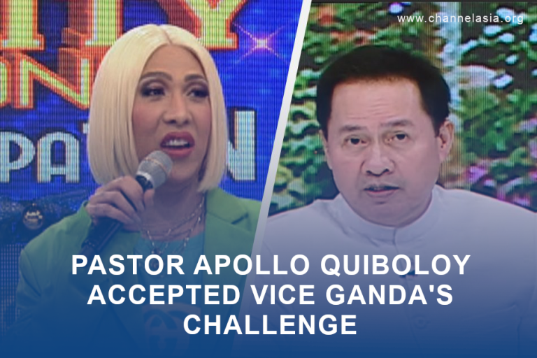 Pastor Apollo Quiboloy accepted Vice Ganda's challenge