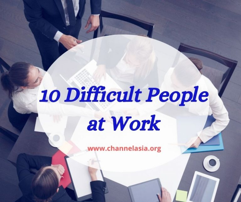 Top 10 difficult people at work