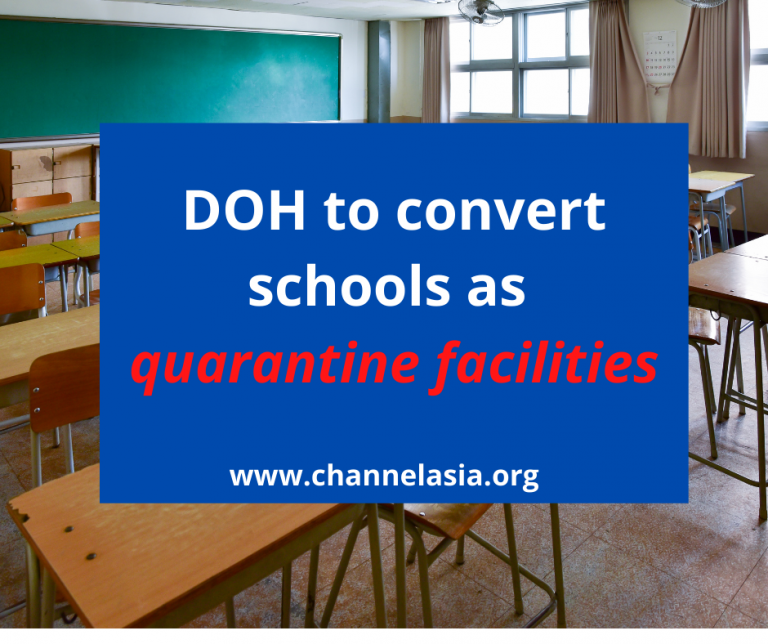 Schools to be used as quarantine facilities due to worsening COVID-19 cases